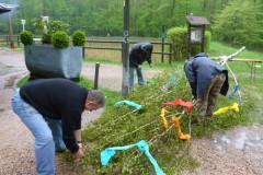 Maibaum 2013 - Trotz Regen und Kälte wollten viele die Tradition nicht verpassen